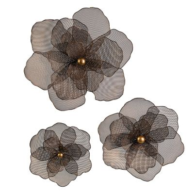 Astaire Flower Wall Decor - Set of 3