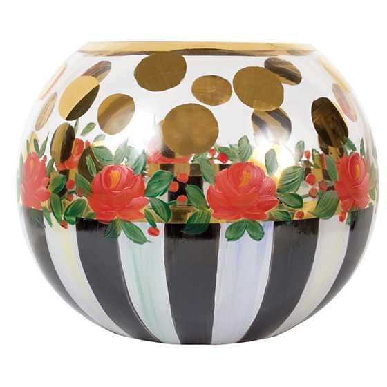Mackenzie Childs Heirloom Glass Globe Vase Medium