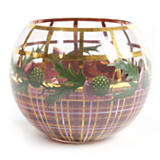 Thistle Glass Globe Vase - Large