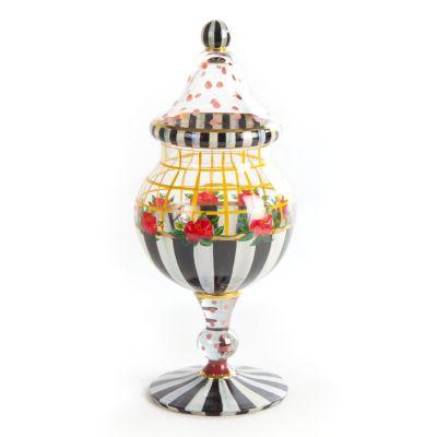 Rose Trellis Candy Jar