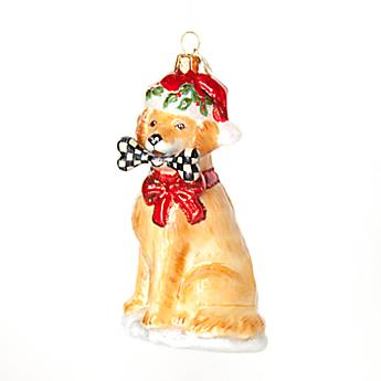 Glass Ornament - Golden Retriever