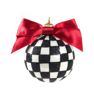 Glass Ornament - Courtly Check Small Ball
