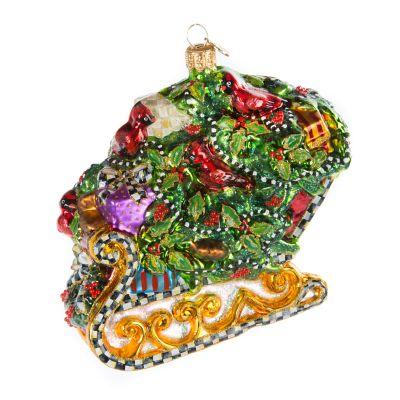 Glass Ornament - Holly Sleigh