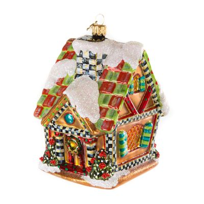 Glass Ornament - Gingerbread House
