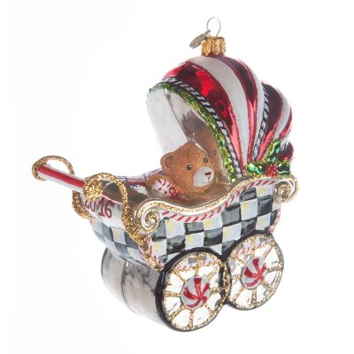 Glass Ornament - 2016 Baby's First Pram