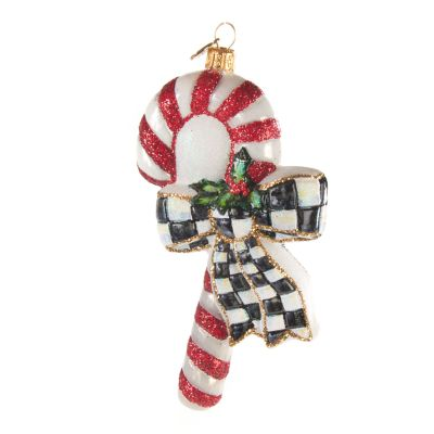 Glass Ornament - Courtly Candy Cane