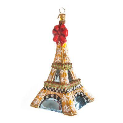 Glass Ornament - Eiffel Tower