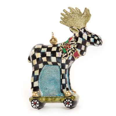 Glass Ornament - Moose on Parade