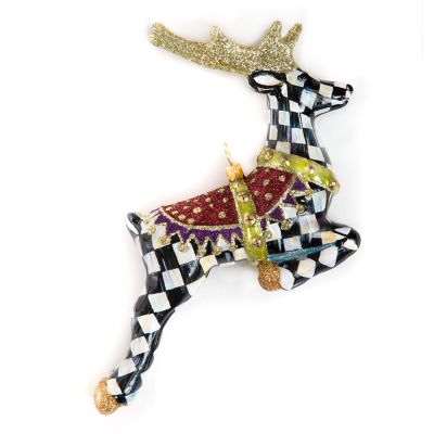 Glass Ornament - Prancer