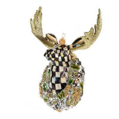 Glass Ornament - Shimmering Moose