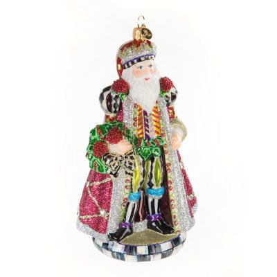 Glass Ornament - Mulberry Santa