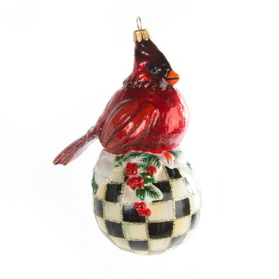 Glass Ornament - Christmas Cardinal