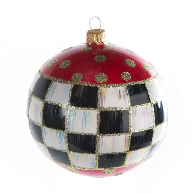 Glass Ornament - Tango Ball - Red