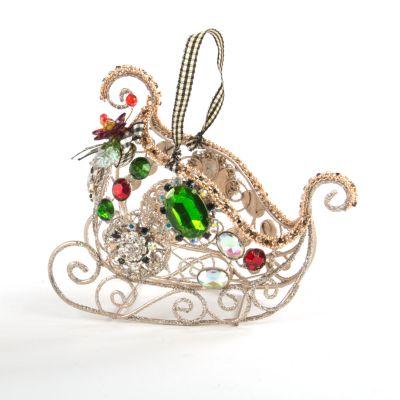 Jeweled Sleigh Ornament