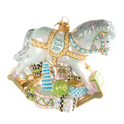 Glass Ornament - Baby's First Rocking Horse