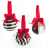 Black Tie Balls - Set of 3