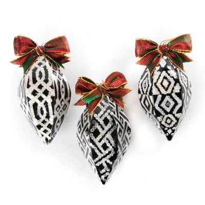 Pearly Kings & Queens Ornaments - Set of 3