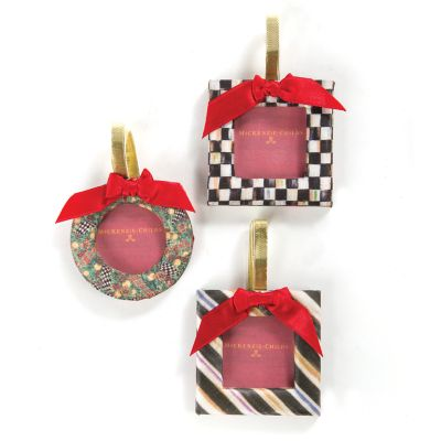 MacKenzie-Childs Frame Ornaments - Set of 3
