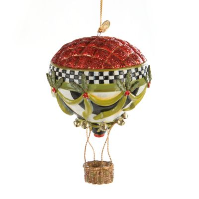 World Traveler Hot Air Balloon Ornament
