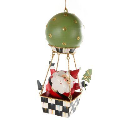 Around the World Santa Ornament