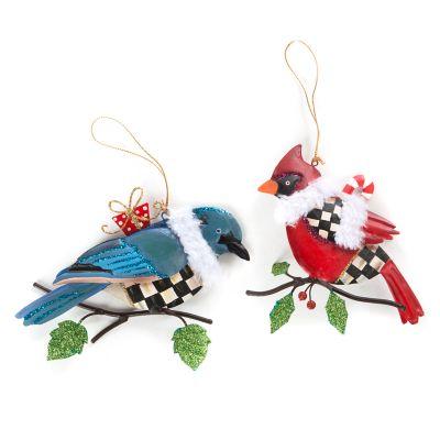 Winter Bird Ornaments - Set of 2