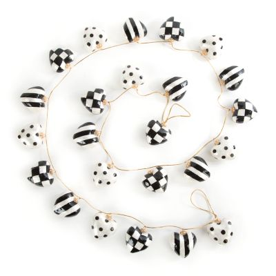 Black & White Heart Garland