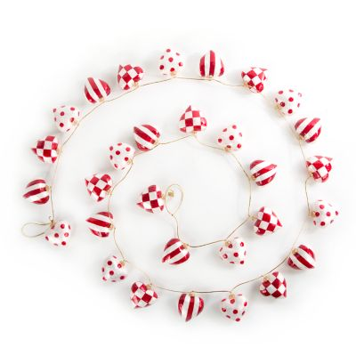 Red & White Heart Garland