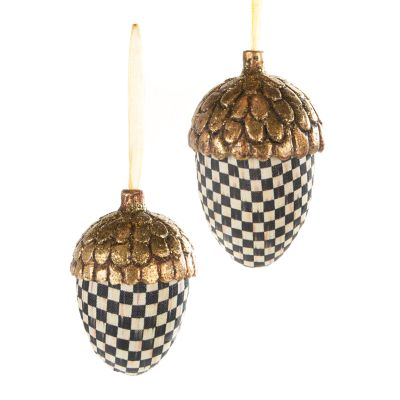 Courtly Harvest Acorn Ornaments - Set of 2