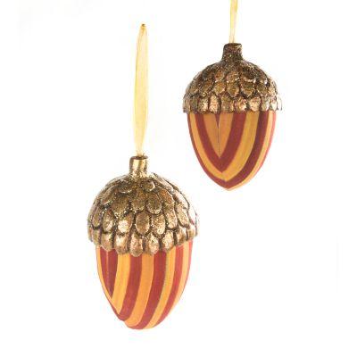 Heirloom Harvest Acorn Ornaments - Set of 2