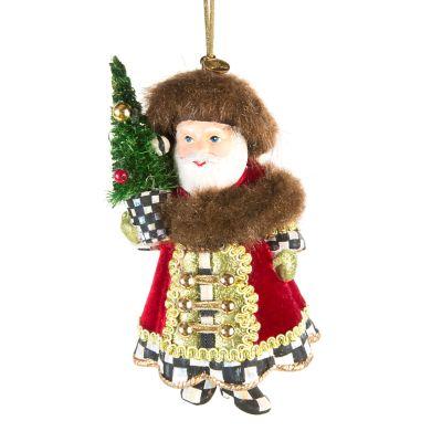 Yuletide Manor Santa Ornament