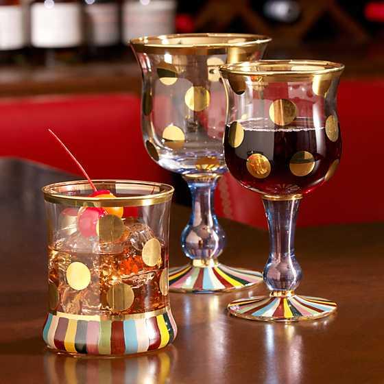Mackenzie Childs Foxtrot Wine Glass