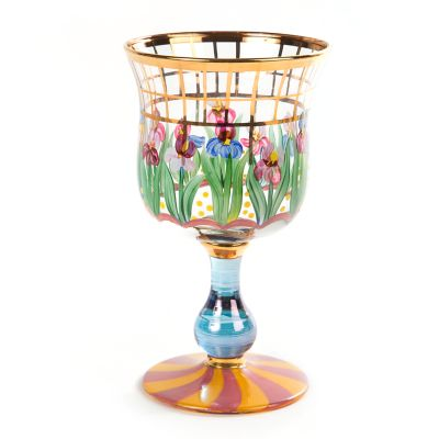 Bearded Iris Water Glass