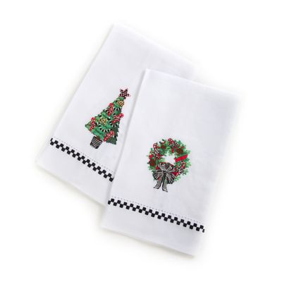 Christmas Greens Guest Towels - Set of 2