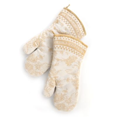 Wild Rose Oven Mitts - Wheat - Set of 2