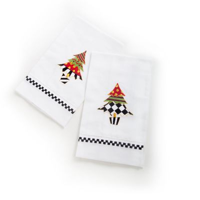 Holiday Trees Guest Towels - Set of 2