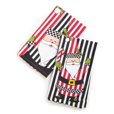 Jolly Santa Dish Towels - Set of 2