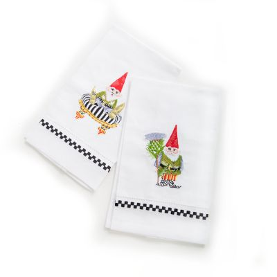 Home Sweet Gnome Guest Towels - Set of 2