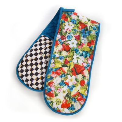 Berries & Blossoms Double Oven Mitt