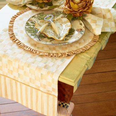 Parchment Check Table Linens