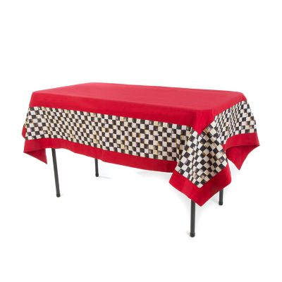 Courtly Check Red Tablecloth - Extra Small