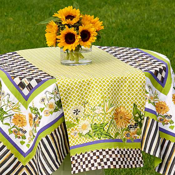 Sunflower Table Runner; Sunflower Table Runner ...   MacKenzie Childs Sunflower  Table