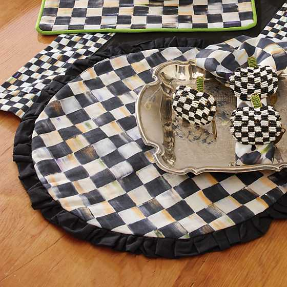 Mackenzie Childs Courtly Check Round Placemat