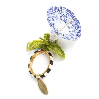 Morning Glory Napkin Ring - Blue