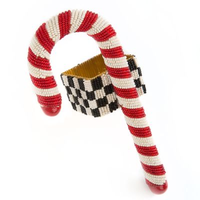 Candy Cane Beaded Napkin Ring