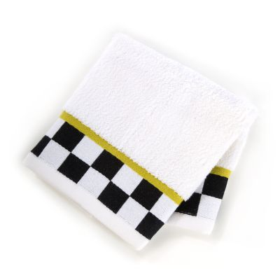 Black & White Check Washcloth