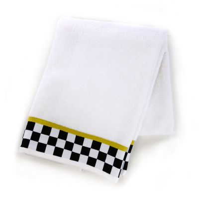 Black & White Check Bath Towel
