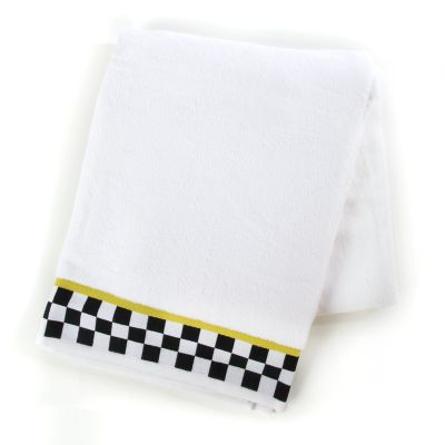 Black & White Check Bath Sheet