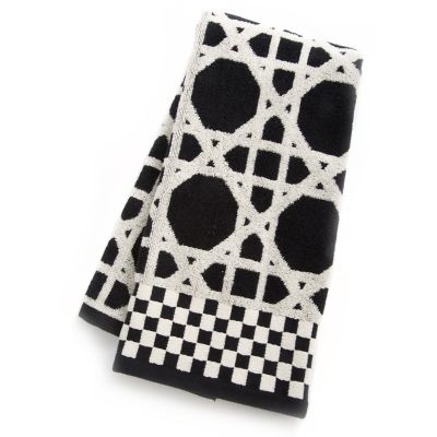 Trellis Hand Towel - Black
