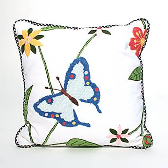 Butterfly Conservatory Square Pillow - Sky
