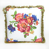 Flower Market Outdoor Throw Pillow
